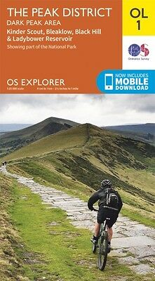 OS Explorer OL1 The Peak District, Dark Peak area (OS Explorer Ma. 9780319242407
