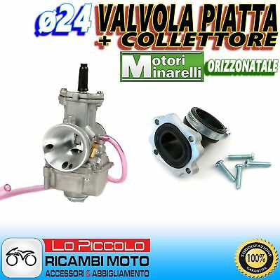CARBURATORE POLINI PWK ø24 + COLLETTORE GIRATO BETA ARK 50 AIR - ARK 50 LC