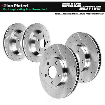 Front+Rear Drilled Slotted Rotor/&Metallic Pad kit For Porsche Volkswagen Touareg