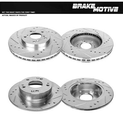 Front /& Rear Disc Brake Rotors and Pads for Acura TSX 09-10 Honda Accord 08-09