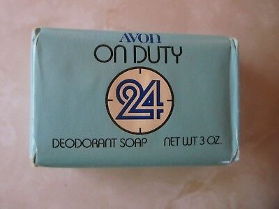 Vintage Avon On Duty 24 Deodorant Bar Soap - Unopened - New Old Stock - 3 Oz