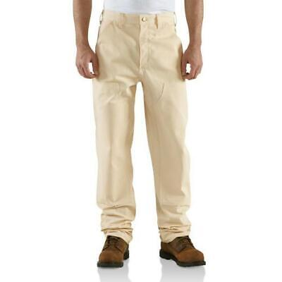 Carhartt Drill Double Front Work Dungaree 32 X 32 Loose Original Fit Natural NEW