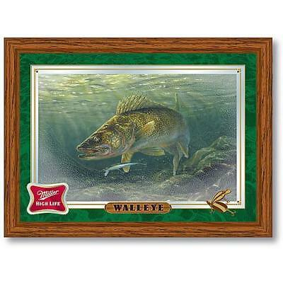 Trademark Global Miller High Life Walleye Reflective Wall Mirror
