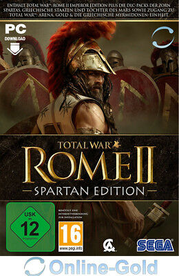Total War: Rome II Spartan Edition Key - STEAM Digital Download Code PC Spiel EU