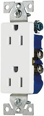 Cooper Wiring 1107W-BOX Decorator Grounding Receptacle, White-Lot of 3