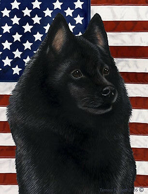 Garden Indoor/Outdoor Patriotic II Flag - Schipperke 321011