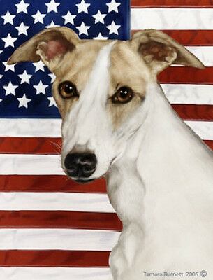 Garden Indoor/Outdoor Patriotic II Flag - Whippet 320621