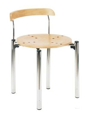 BISTRO CR Chromium Plated Cafe Bar Bistro Stacking Restaurant Chair Beech