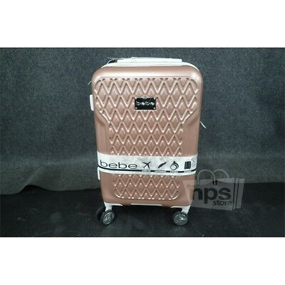 BEBE BE-PC-7321 Rose Gold  Stela 21in Carry-On Hardside Spinner Case