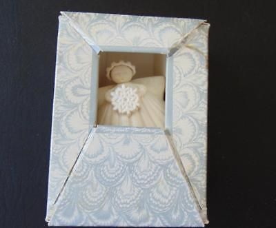 Margaret Furlong Holiday Angel Shell Ornament Holding Snowflake in Box