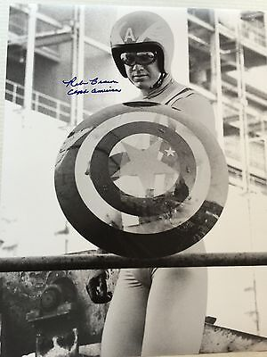 1979 Reb Brown Captain America Signed LE 16x20 B&W Photo