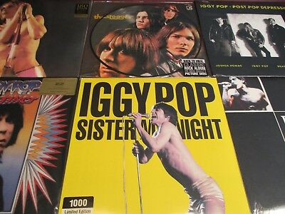 Iggy Pop & Stooges Rare Set Of Picture Disc 180 Gram Numbered Editions & More