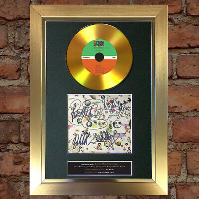 GOLD DISC LED ZEPPELIN (III Album) Signed Autograph Mounted Repro A4 #136