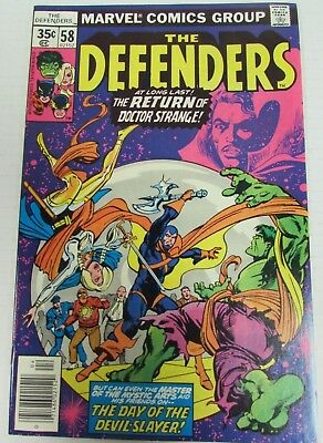 Defenders #58 (1978) Marvel Comics High Grade 9.2 Bronze Age CH010