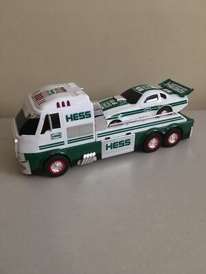 Hess Truck 2016 Flat Bed Toy Truck and Dragster Car **Works** No Box