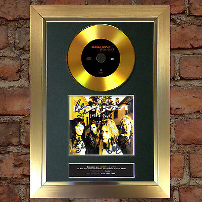 GOLD DISC BON JOVI These Days Signed Autograph Mounted Repro A4 #140