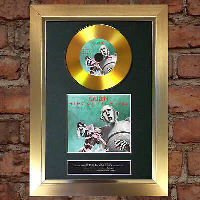 GOLD DISC QUEEN News of the World Album Signed Autograph Mounted Repro A4 #141