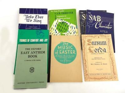 Vtg 1940's / 1950's Mid Century 8pc Lot of Choir Books Hymnals Choral Anthem SAB