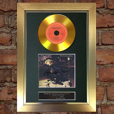 GOLD DISC BARBRA STREISAND Broadway Album Signed Autograph Mounted Repro #149