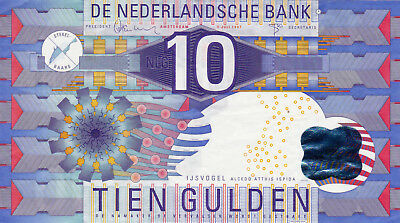 10 Gulden Ef Banknote From Netherlands 1997!pick-99