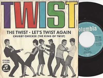 "Single 7"" CHUBBY CHECKER - The Twist / Let's Twist Again - Columbia 1962"