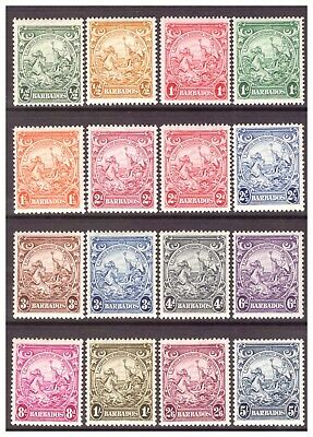 Barbados 1938-1947 GVI 'Badge of Colony' set MM/MH SG248-256a