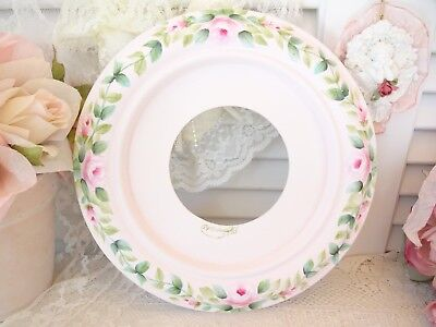 PINK ROSE CEILING MEDALLION daSommer hp hand painted chic shabby vintage cottage