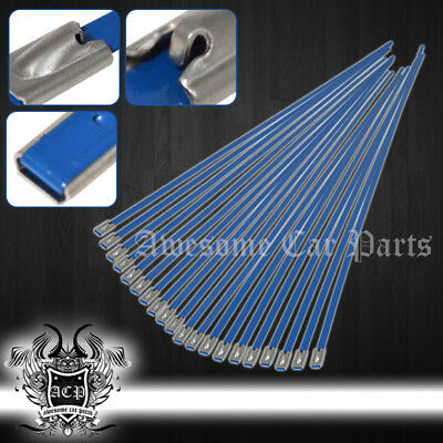 """12"""" 20Pcs Stainless Cable Zip Tie Straps Bl - Long Heavy Duty Band Exhaust Pipe"""