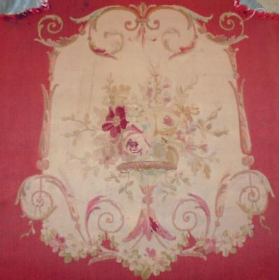 BEAUTIFUL 19th CENTURY FRENCH AUBUSSON TAPESTRY PANEL, ROSES, FLORALS 1.
