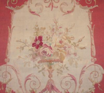 BEAUTIFUL 19th CENTURY FRENCH AUBUSSON TAPESTRY PANEL, ROSES, FLORALS 2.
