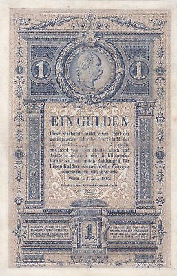 1 Gulden/forint Fine Banknote From Austro-Hungarian  Monarchy 1882!pick-A153