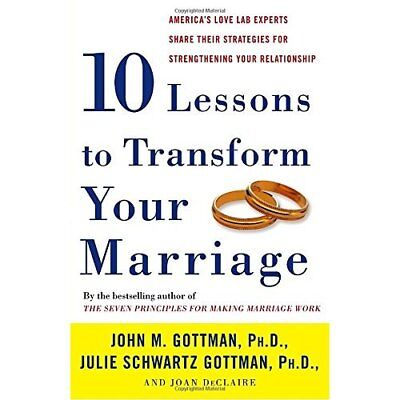 Ten Lessons to Transform Your Marriage: America's Love  - Paperback NEW John M.