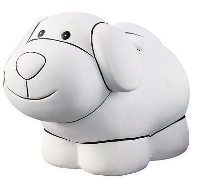 Ceramic Puppy Money Box Piggy Bank To Paint And Decoupage Your Own Craft Figure