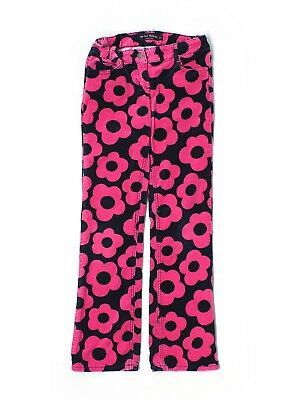 Girl Mini Boden Hot Pink Navy Blue Flower Mod Velour Pants Size 11 Years 11Y