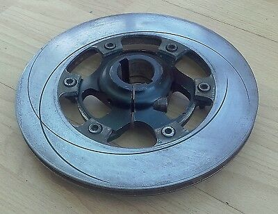 Vented Offset Grooved Disc with Carrier, 30mm Axle,  Go Kart,TKM,Rotax,Wildkart