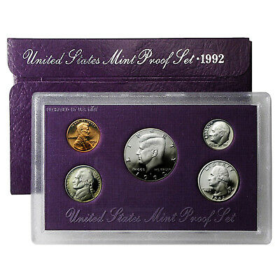 1992 Proof Set - 5 Coin Set