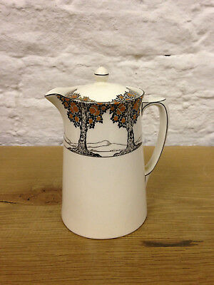 Crown Ducal Orange Tree Art Deco Rarer Sized Small Lidded Water Jug Good Cond