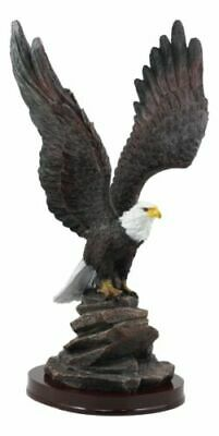 """American Pride Wildlife Bald Eagle Taking Flight Statue 14.5""""H Independence Day"""