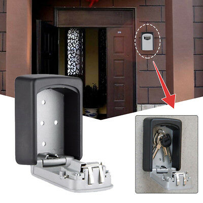 Wall Mounted 4Digit Password Combination Key Safe Security Storage Box Lock Case