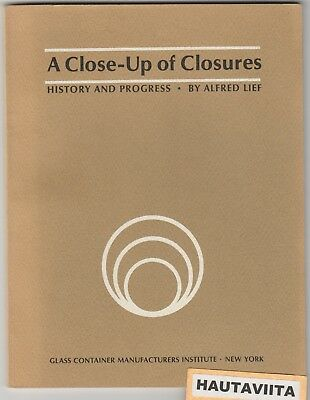 Closeup Closures History Reference Bottle Glass Container Manufactures NY 1965