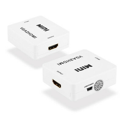VGA To HDMI Converter Box HD 1080P HDTV Video Audio Adapter For Laptop Computer