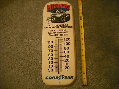 Vintage Goodyear Tire Thermometer Sign Auto Part Gas Oil Can Sign Gm Mopar Ford
