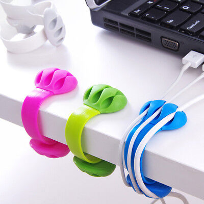 Multipurpose Wire Cord Cable Tidy Holder Drop Clips Organizer Line*Fixer Winder~