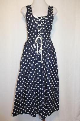 VTG 60's CATALINA Lace-Up Polka Dot Retro Pin-Up Dress NEW Old Stock sz.S