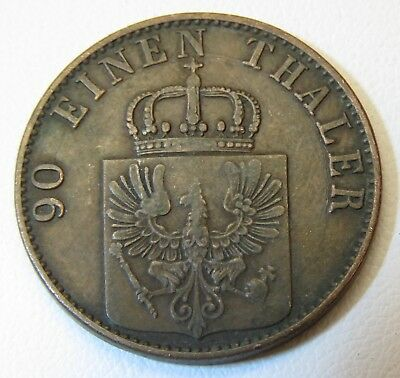 Nice 1868 GERMAN STATES PRUSSIA 4 PFENNIG COIN LOT 1409