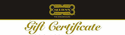 $200 Gift Certificates Valid for Mortons Steakhouse  or any Landrys location
