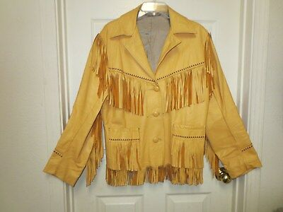 Vintage FRINGE Jacket - Leather - Jo O Kay - GREAT FOR DISPLAY or MUSEUM PIECE
