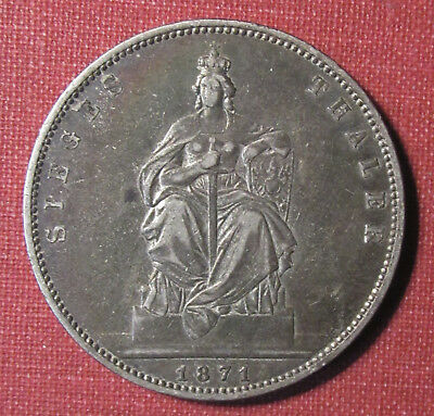"""1871A Prussia, German States - One Year Type, """"sieges Thaler"""" Victory Coin!"""