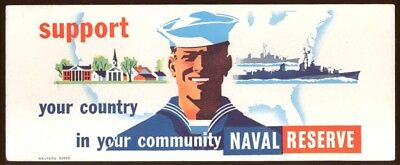 Support Your Community Naval Reserve blotter 1950s