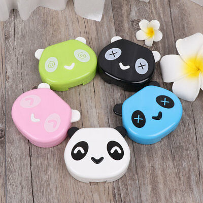 Plastic Contact Lens Box Cute Panda Case Travel Portable Glasses Eye Care Kits